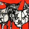 11 Cats  30 x 122 cm Sold