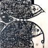 Bird and fish 100 x 100 cm