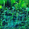 Leftover greens 77 x 163 cm  Sold