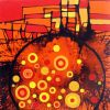 Orange 1  60 x 60 cm  Sold