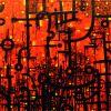 Safety Orange  77 x 163 cm
