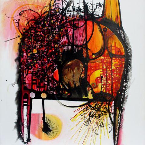 Instinct 1.01  122 x 122 cm  Sold