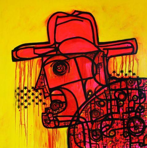 The Cowboy   102 x 102 cm    SOLD