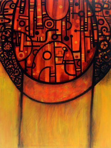 The Hive  124 x 92 cm  Sold